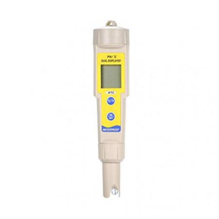 Poze OW-035 Tester pH profesional, pentru lichide, indicator temperatura, cu baterii