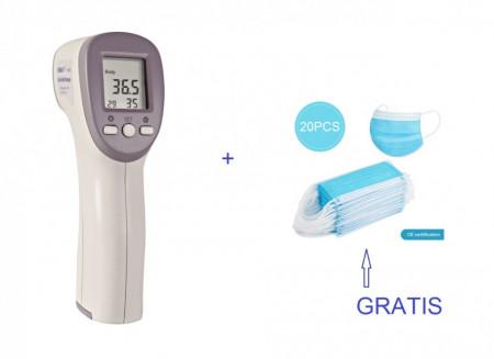 Poze KINLEE FT-3010 Termometru IR, non-contact, interval 32.0-43°C, pentru adulti si copii
