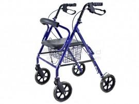 Poze QMED 183-KY9146L- Cadru de umblat ultrausor si rabatabil din aluminiu cu scaun si frane