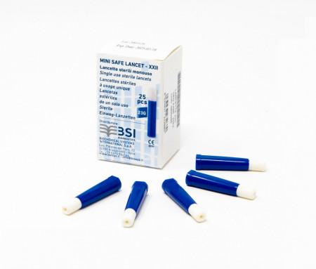 Poze LANCETTE 23G - Ace sterile, cu auto-intepare, 25buc/set