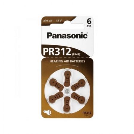 Poze PANASONIC PR312 - baterii ZincAir 1.4V, 6buc