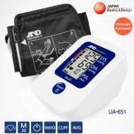 AND UA-651 - tensiometru digital de brat, automat, memorie, alimentator 220v, made-in-JAPAN