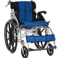 QMED 183-869LAJB-46 - Scaun cu rotile manual pliabil din aluminiu cu cotiere  rabatabile