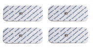 4CPS10 - pad-uri cu gel autoadezive, cu capsa, pt aparate TENS/EMS, 10x5cm
