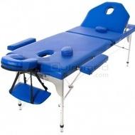 QMED 359-A2L-AZ - Masa masaj pliabila din aluminiu cu spatar rabatabil