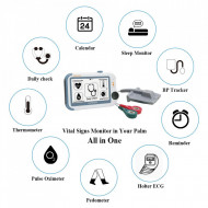 CHECKME PRO - Monitor multifunctional portabil cu eran tactil: ECG, SpO2, puls, tensiune