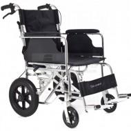QMED 183-865LABJ-46- Scaun cu rotile din aluminiu pentru calatorie, 46 cm latime