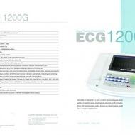 CONTEC ECG1200G - electrocardiograf 12 canale, profesional, printare termica, ecran LCD