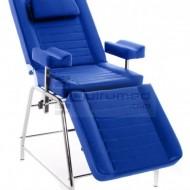 QMED QM-9315-AZ- Scaun pentru recoltari, 3 corpuri rabatabile cu suport pentru brat Albastru