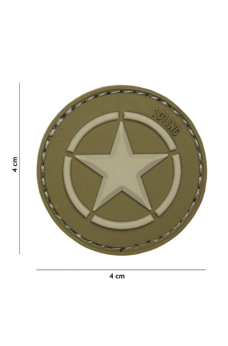 Patch 3D PVC Allied Star Green
