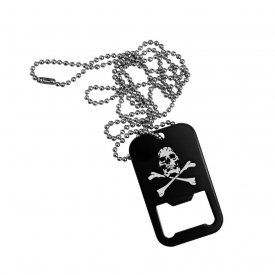PLACUTE IDENTIFICARE US SOLDIERS (DOG TAG) SKULL