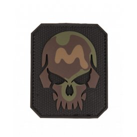CAMO PVC SKULL 3D PATCH W. HOOK&LOOP CLOSURE