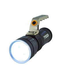 Lanterna metalica TED Electric 1 LED 10W zoom include 3 acumulatori 18650 Li-Ion si cablu de incarcare micro USB HL-L2-04TED