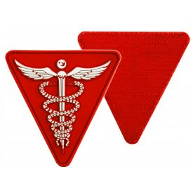 RED PVC MEDICAL 3D PATCH W. HOOK&LOOP CLOSURE