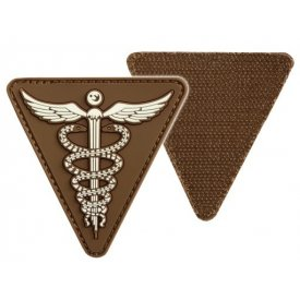 DARK COYOTE PVC MEDICAL 3D PATCH W.HOOK&LOOP CLOS.