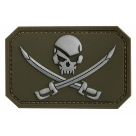 OD PVC SKULL W.SWORDS 3D PATCH W.HOOK&LOOP CLOS.
