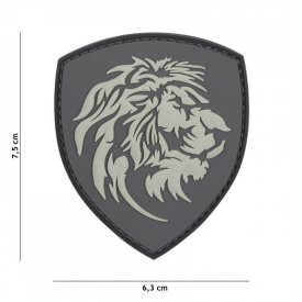Patch 3D PVC Dutch Lion Grey
