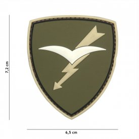 Patch 3D PVC Paratroopers Brigade Folgore Green