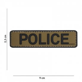 Patch 3D PVC Police Green/Black