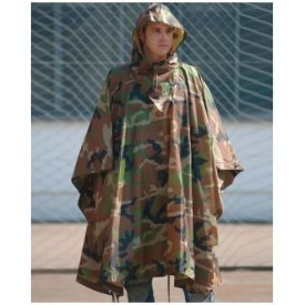 PONCHO US - RIPSTOP WOODLAND