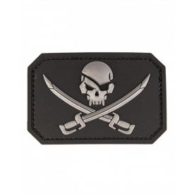 BLACK PVC SKULL W.SWORDS 3D PATCH W.HOOK&LOOP CLO.