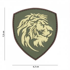 Patch 3D PVC Dutch Lion Green
