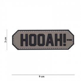 Patch 3D PVC HOOAH! Grey