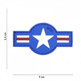 Patch 3D PVC U.S. Air Force Blue