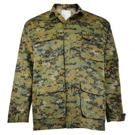 VESTON MILITAR BDU CAMUFLAJ WOODLAND DIGITAL