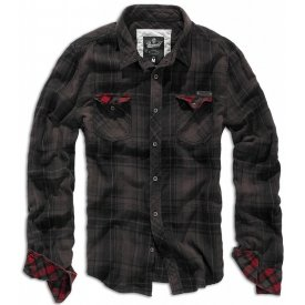 CAMASA CHECKSHIRT DUNCAN BLACK-BROWN