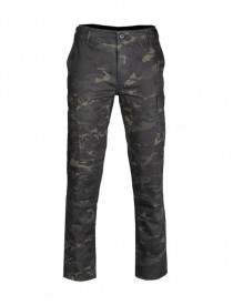 PANTALONI US BDU RIPSOP SLIM FIT CAMUFLAJ MULTITARN BLACK