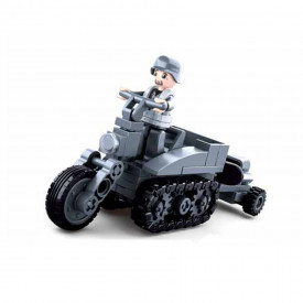 Sluban German Army Half crawler type motorcycle M38-B0680B