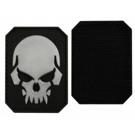BLACK PVC SKULL 3D PATCH W. HOOK&LOOP CLOSURE SM