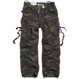 PANTALONI RAW VINTAGE FATIGUES NIGHT CAMO