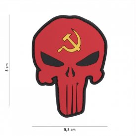 Patch 3D PVC Punisher Russia Secera si Ciocanul