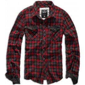 CAMASA CHECKSHIRT DUNCAN RED-BROWN