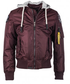 JACHETA TOP GUN ′SEABEES′ BORDO