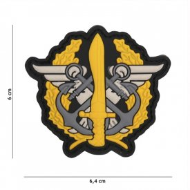 Patch 3D PVC Marine Corps Logo Yellow