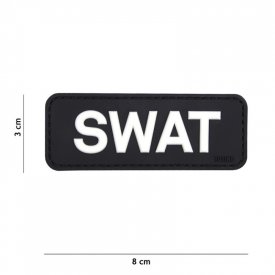 Patch 3D PVC SWAT Black