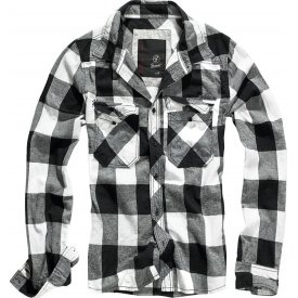 CAMASA CHECK SHIRT BLACK-WHITE