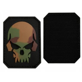 CAMO PVC SKULL 3D PATCH W. HOOK&LOOP CLOSURE SM