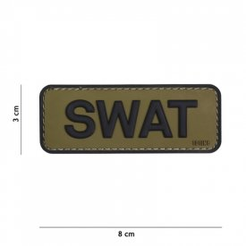 Patch 3D PVC SWAT Green/Black