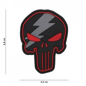Patch 3D PVC Punisher Thunder Red
