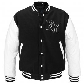 JACHETA NY BASEBALL BLACK-WHITE