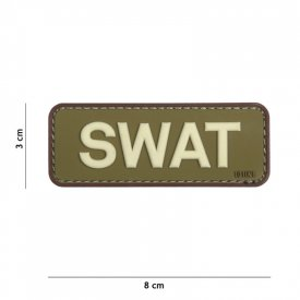 Patch 3D PVC SWAT Green/Brown