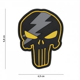 Patch 3D PVC Punisher Thunder Yellow
