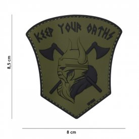 Patch 3D PVC Keep Your Oaths - Green