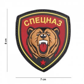 Patch 3D PVC Spetsnaz Bear Red