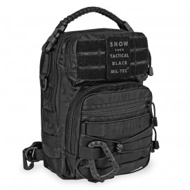 RUCSAC TACTICAL BLACK ONE STRAP ASSAULT PACK SMALL 10L