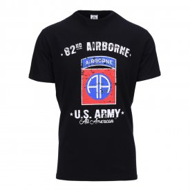 TRICOU BARBATI U.S. ARMY 82nd AIRBONE BLACK